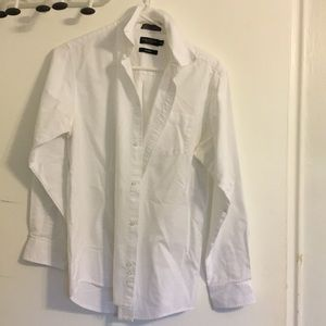 Nautica white oxford button down dress shirt